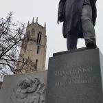 Taras Shevchenko (Ukranian Hero) statue in the road out front
