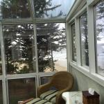 View from the sunroom in The Sea Rose