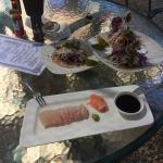 Amazing sashimi and fish tacos! Addicted!