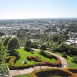 Gardens and city view