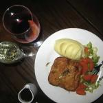 Perfect together - Chicken, Chardonnay & Pancetta Pie and mulled wine!