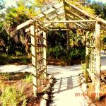 Trellis just at the entrance of one trail