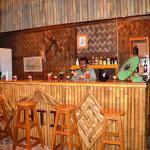 The cozy bamboo bar