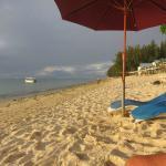 la plage devant l'hôtel