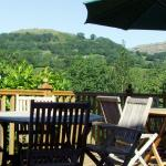 View of Dinas Bran from the balcony