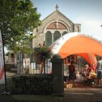 Our free craft ArtsWave Devon tent at Nourish food and craft festival in Bovey Tracy