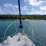 Anchored for snorkeling and a swim.
