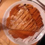 Pancake with peanut butter,nutella,crocants and caramel.