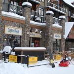 Double Black Cafe at the foot of the Kicking Horse Mountain Resort gondola
