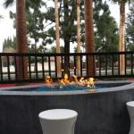 cute fireplace out front!