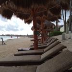 Beach chairs and umbrellas!