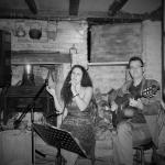 Live music inside pub. Cosy!