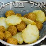 Falafel with fried potetos
