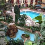 Swiming pool and hot tub area