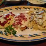 The Northern tour of Italy!  Chicken Lombardy, Asiago Tortellini and Fettuccine with garlic Parm