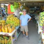 Myself in front of fruit stand