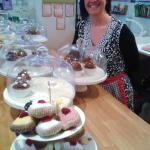The baker and her cup-cakes!!