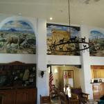 Wall paintings in the front desk lobby