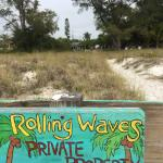 Look for the sign when you leave the beach