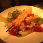 Lunch prawn caesar salad
