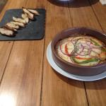 Provolone al forno del menu diario
