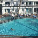 view of pool from sunbathing terrace