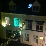 Christmassy view at night
