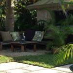 Serene seating area