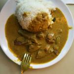 Ox Tonge with Rice in Curry Sauce