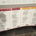 Special menu options