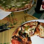 pizza con crema di zucchine