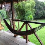 Our hammock at the terrace and view to the gardens