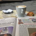 Great coffee and a newspaper