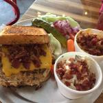 Bacon Cheddar Chicken Burger