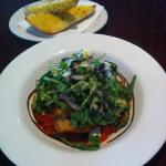 Eggplant schnitzel and herb bread