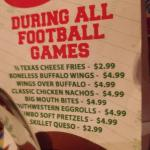 Specials during all games