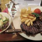 Steak, Chips and Side Salad