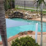 View from Unit 11 to pool area