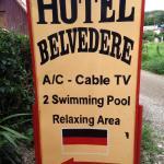 Sign for Hotel Bellevedere