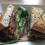 Steak sandwich with onions