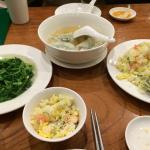 菜肉餛飩湯 炒A菜 蝦仁蛋炒飯
