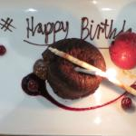 A delightful touch - my mother's birthday dessert