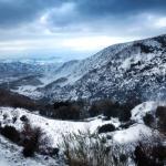 Χιονισμένο τοπίο... Η θέα απο το Αερικό... Απίστευτη  !