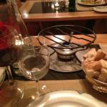 Preparazione fondue