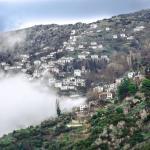 View to Makrinitsa village ... From Aeriko cafe bar
