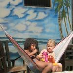 making friends at Hotel Playa Garza