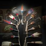 This display of feather wands glows with stunning beauty. All displays are artful and well light