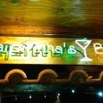 sign above the bar