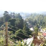 Blick vom Balkon über die Stadt