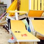 The nice beach chairs